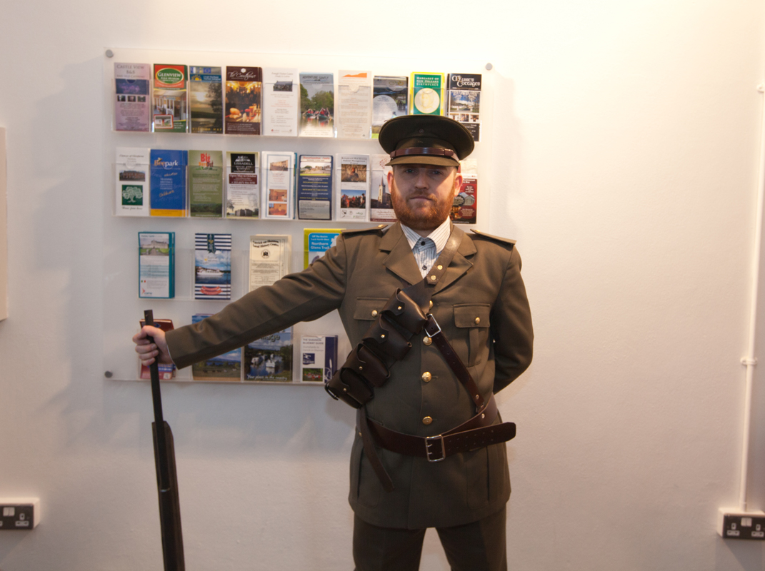 Brian Kerrigan in Irish Volunteers uniform