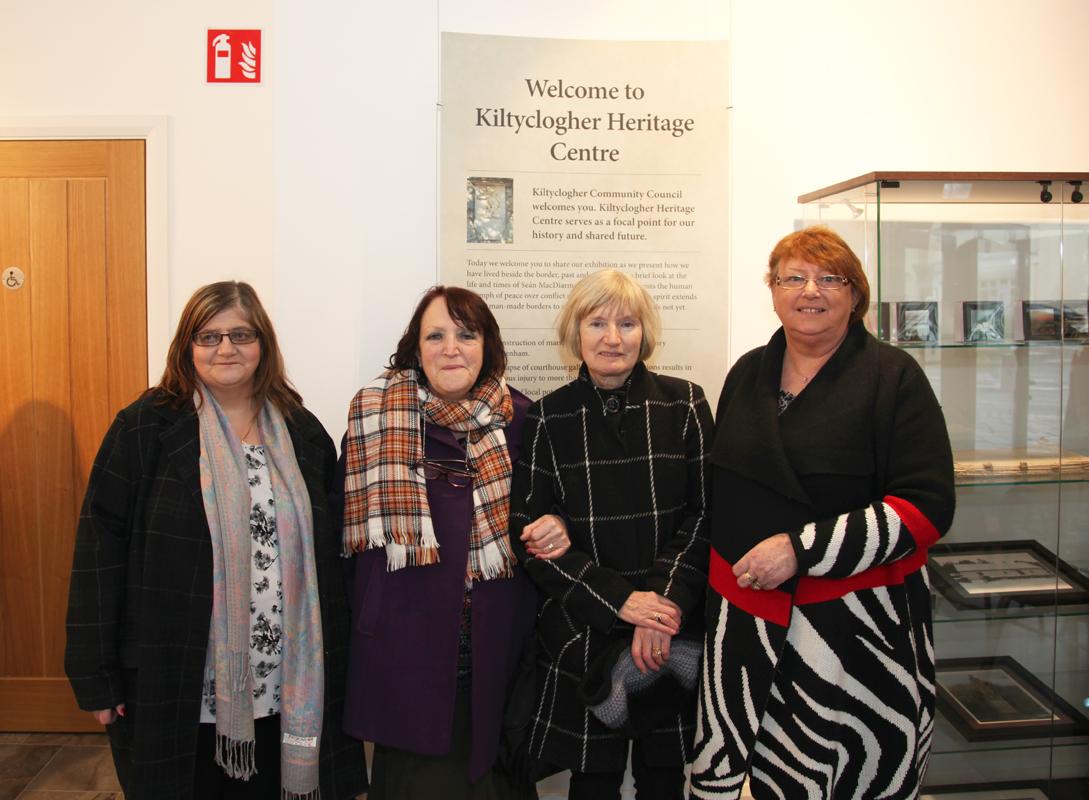 Kay Mc Dermott Belfast,Maura Mylonas Bundoran, Patricia Walsh Galway grand nieces of Sean Mc Diarmada,Maureen Cullen