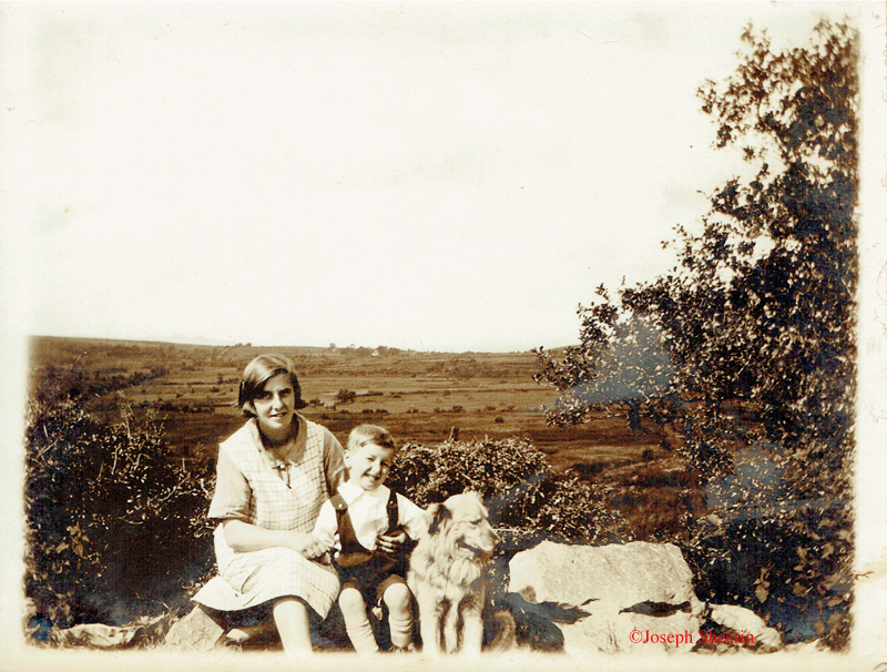 ©Rose MacDermott Sean's sister nephew Terence MacDermott and Dog Major