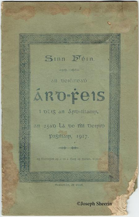 Sinn Fein Ard Feis 1917