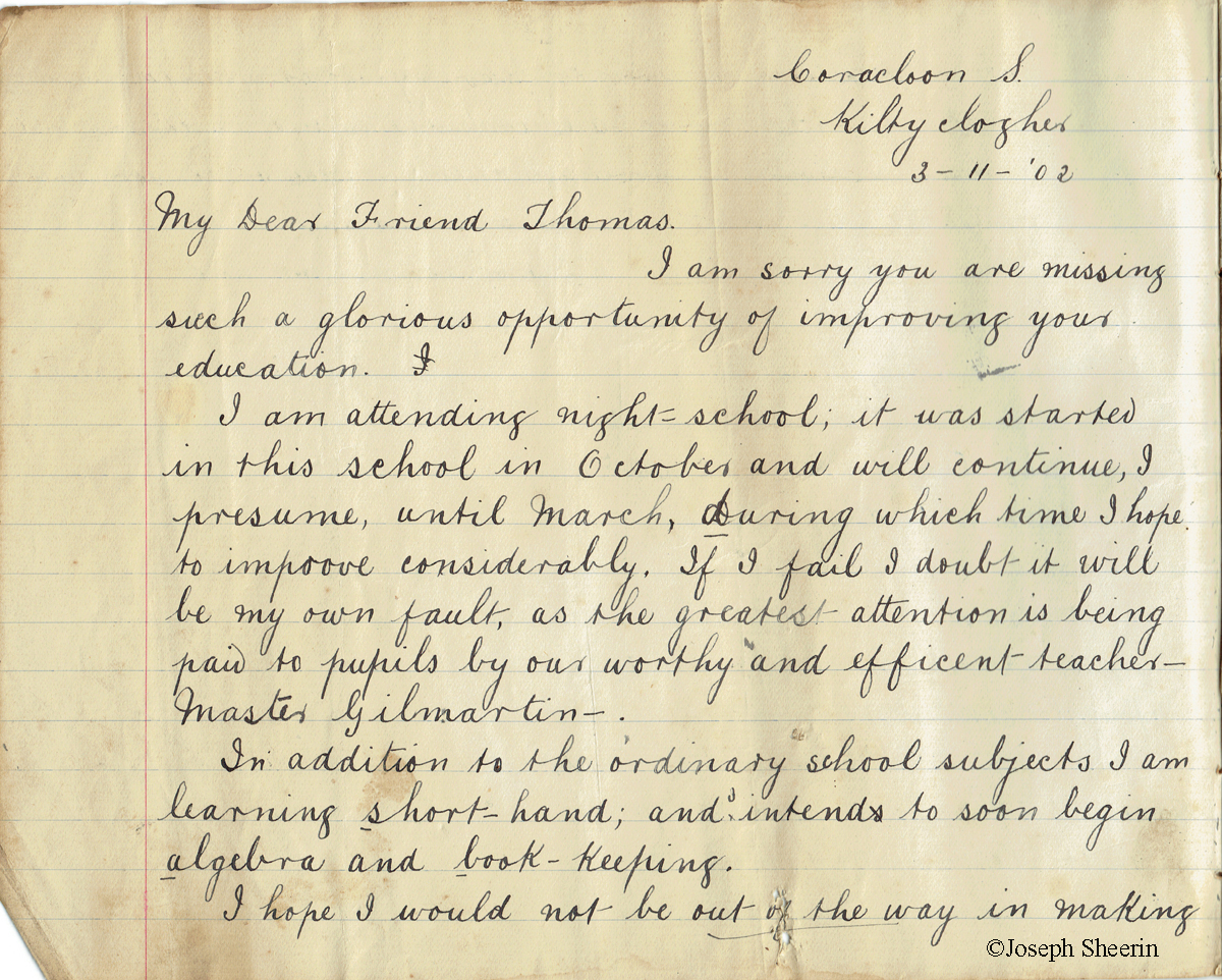 Letter to Thomas Cullen Glasgow 3-11-1902