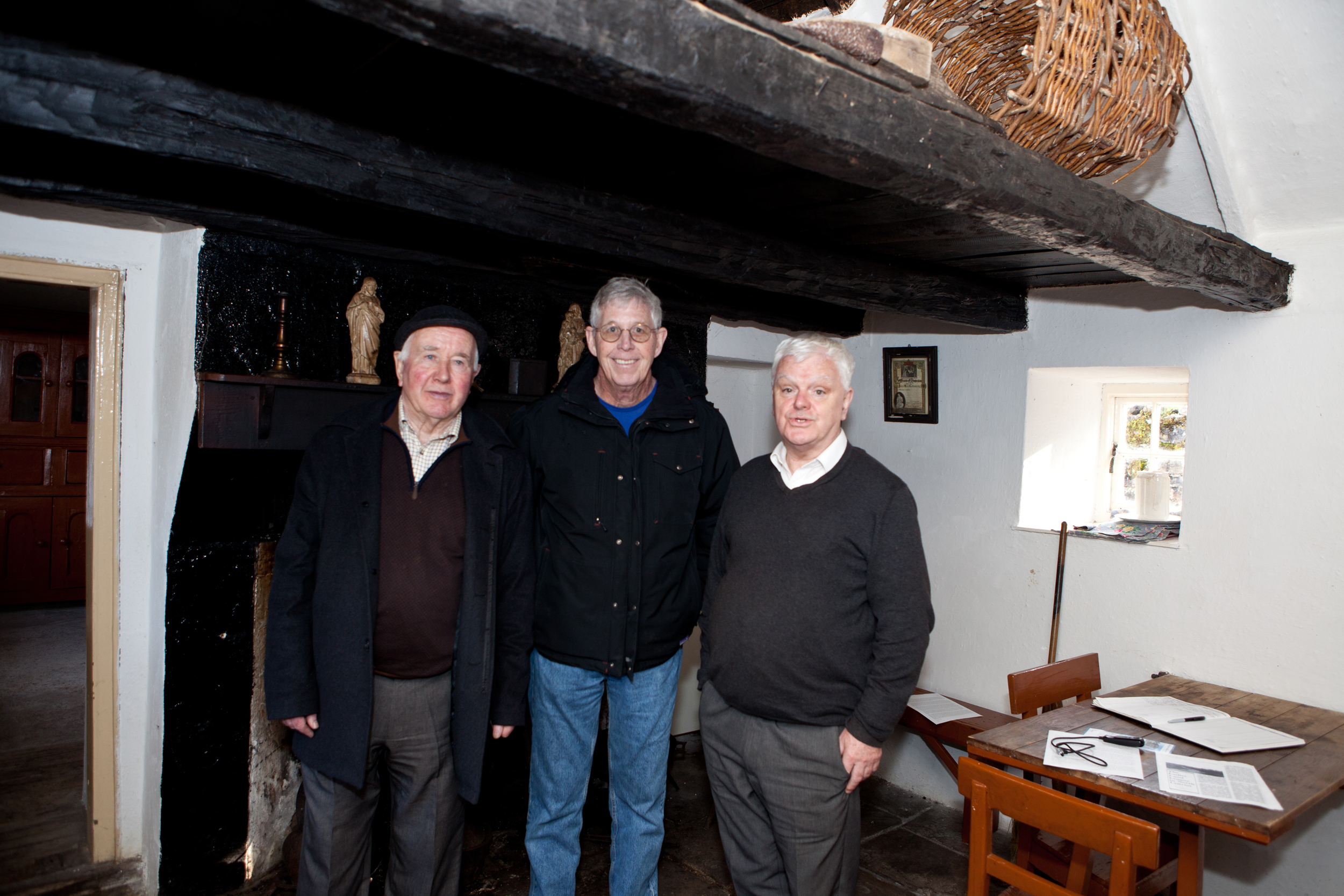 Hubert McMorrow, Steve McMorrow and Fr Gerry Comeskey
