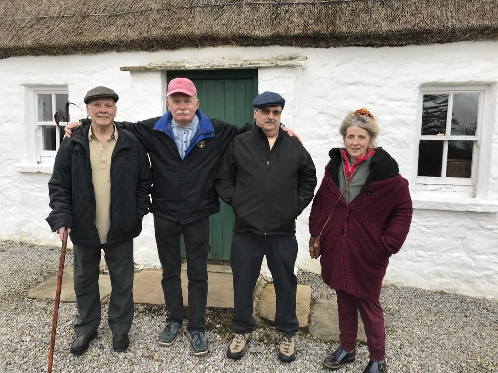 Charlie Wrynn visiting Seán MacDiarmada's Cottage